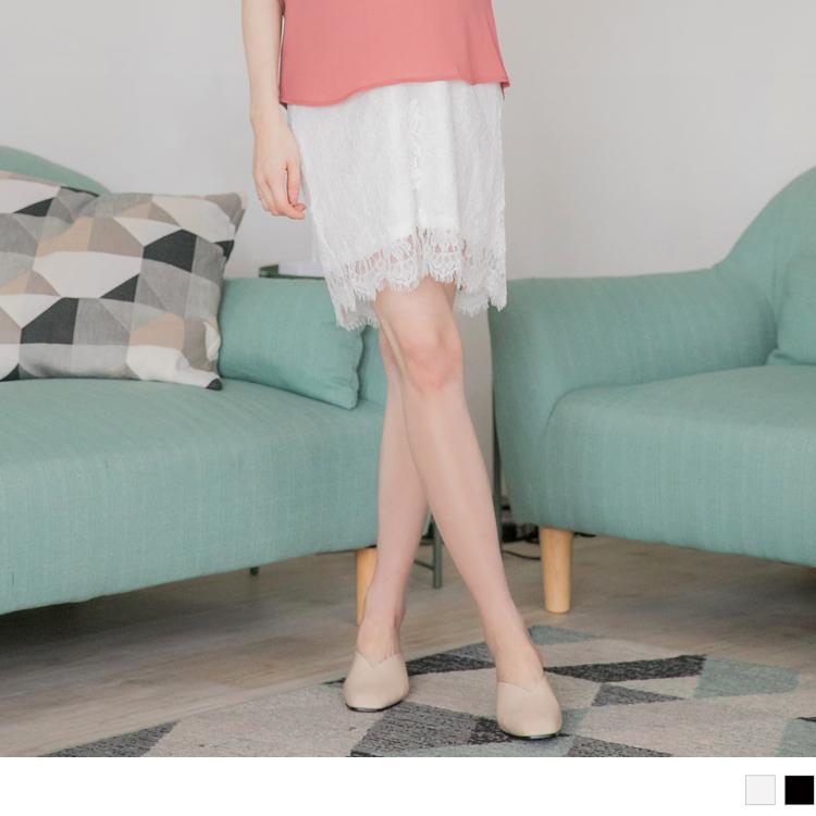 質感睫毛蕾絲孕婦短裙.2色