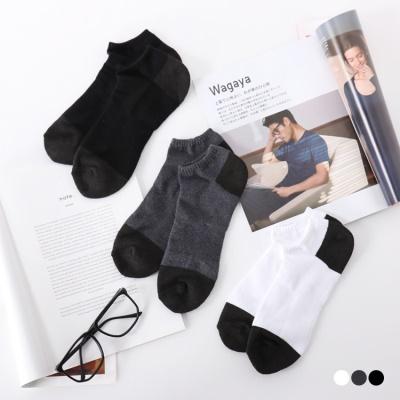 0517新品 台灣製造.毛巾底船型竹炭襪(3入一組).男3色
