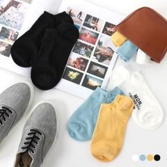 0725新品【特價款】 韓國素面糖果色船型襪.4色