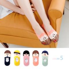 0621新品 【特價款】韓國趣味小朋友腳後跟防滑脫隱形襪.5色