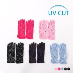 0630新品 【特價款】點點印花防曬止滑機車手套.5色