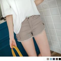 0522新品 時尚刷破酷感嚴選高棉量牛仔短褲.6色