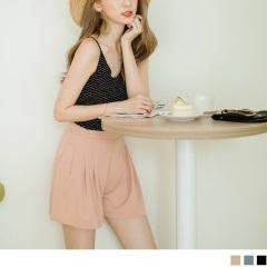 0525新品 質感純色打褶設計短褲.3色