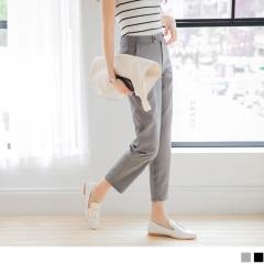 0614新品 好質感光澤面料素色中腰西裝褲.2色