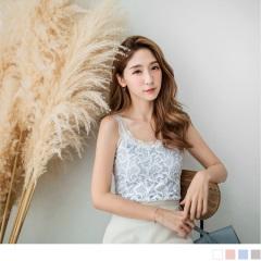 0807新品 優雅美姬~鏤空蕾絲正面拼接羅紋背心‧4色