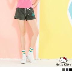 HELLO KITTY口袋印花抽繩綁帶運動短褲.3色