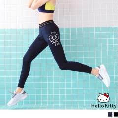 0602新品 KITTY運動系列~金屬感燙印運動褲/瑜伽褲.2色
