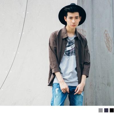 【酷夏黑白T♥任選69折】街頭路牌圖案印花圓領短袖上衣.3色