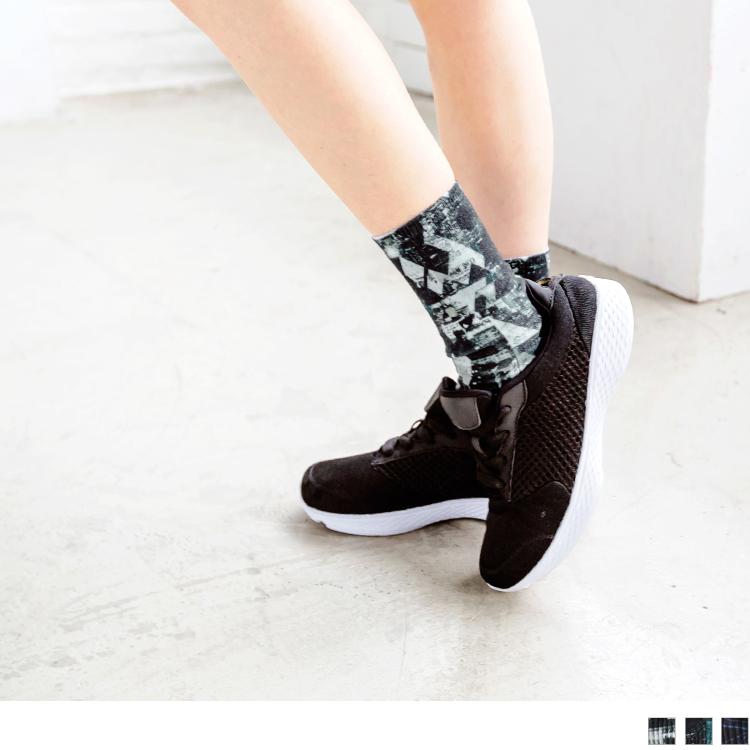 高質感3D列印運動短襪.3色