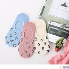 0619新品 【特價款】韓國滿版可愛動物隱形襪.3色(3入198)