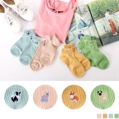 0609新品 【特價款】韓國繽紛可愛動物圖案短筒襪.4色(任3雙198)