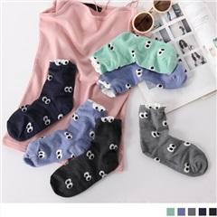 0609新品 【特價款】韓國滿版可愛眼睛圖案短筒襪.5色(任3雙198)