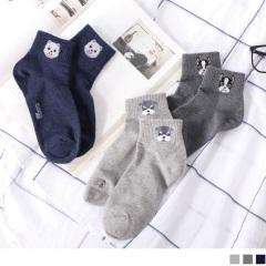 0609新品 【特價款】韓國可愛動物圖案短筒襪.3色(任3雙198)