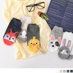 0609新品 【特價款】韓國可愛動物圖案船型襪.5色(任3雙198)