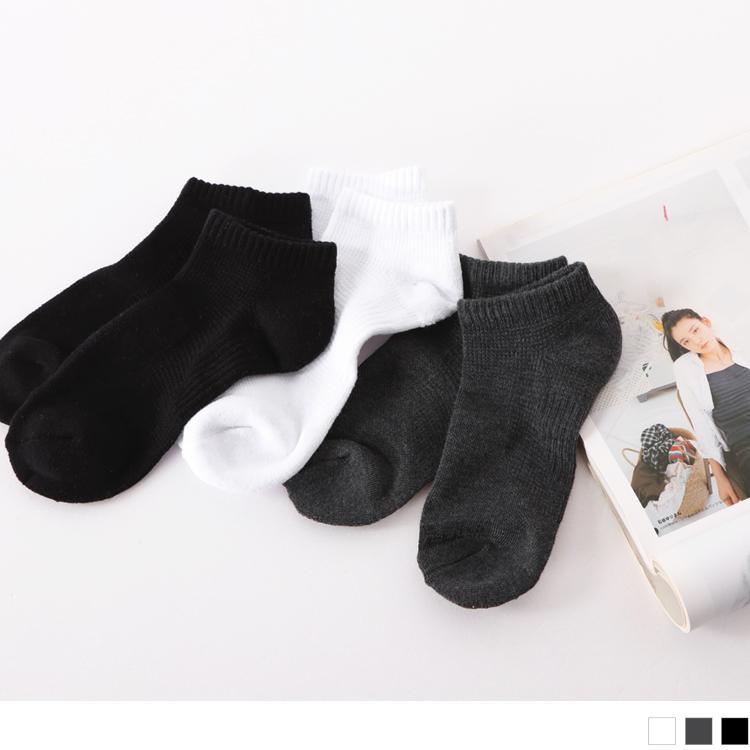 質感純色素面船型襪.3色(3入198)