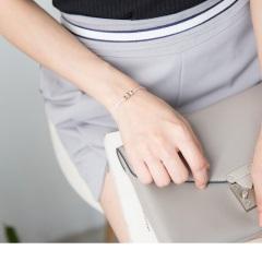 0619新品 【特價款】金銀小球粉嫩紗線手鍊