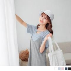 【周末限定♥現折100】質感純色鏤空線條領口造型上衣.5色
