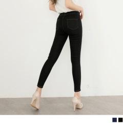 嚴選材質超瘦腿彈性牛仔窄管褲.2色