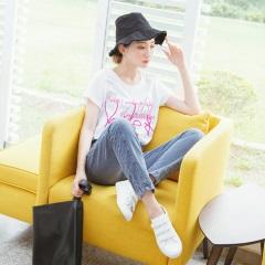 【LINE限定】經典個性刷色牛仔高含棉休閒直筒褲