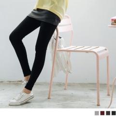 【LINE獨享優惠】假兩件式交叉層次裙襬包臀短裙內搭褲.4色