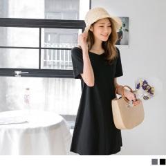 0621新品 質感純色大V領細肩帶高含棉洋裝.2色