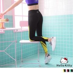 0616新品 KITTY配色夜跑螢光邊條美型彈力翹臀貼腿褲.3色