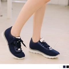 高彈迴力系列~透氣網布夜光設計運動休閒鞋.3色