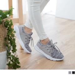 太空羽絨極輕系列~混色透氣網布拼接皮革運動鞋.3色