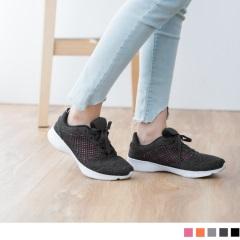 0616新品 太空羽絨系列~透氣網布拼接輕量大底運動鞋.5色