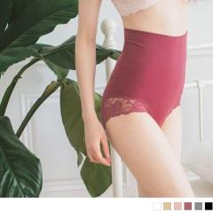蕾絲花邊無縫雙層高腰收腹塑身褲‧6色