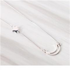 0615新品 【特價款】星星X月亮質感短鍊/頸鍊