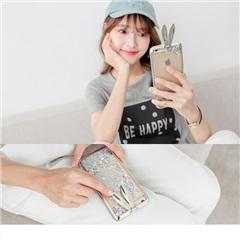 0721新品【特價款】流沙亮片銀色兔子iPhone手機殼
