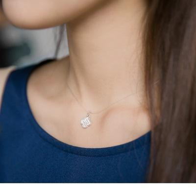 0704新品【特價款】鑽石幸運草透明彈性線項鍊