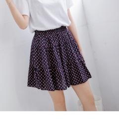 0818新品 滿版印花腰圍鬆緊層次蛋糕裙襬造型短裙