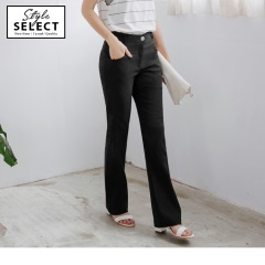台灣製造.顯瘦質感直筒西裝長褲