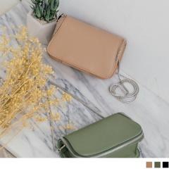 0725新品【特價款】 金屬鍊條拉鏈滾邊造型小方包.3色