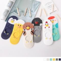 0724新品【特價款】韓國立體嘴巴可愛動物止滑隱形襪.6色(任3入198)