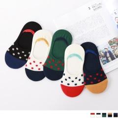0724新品【特價款】韓國點點圖案撞色造型止滑隱形襪.5色(任3入198)