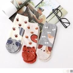 0724新品【特價款】韓國腳尖動物短筒襪.3色(任3入198)