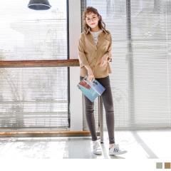素色落肩質感高含棉長袖襯衫.2色