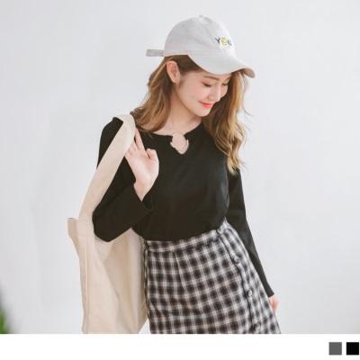 0921新品 圓環鏤空造型素面上衣