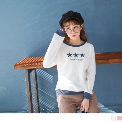 1026新品 星星字母印花圓領針織上衣