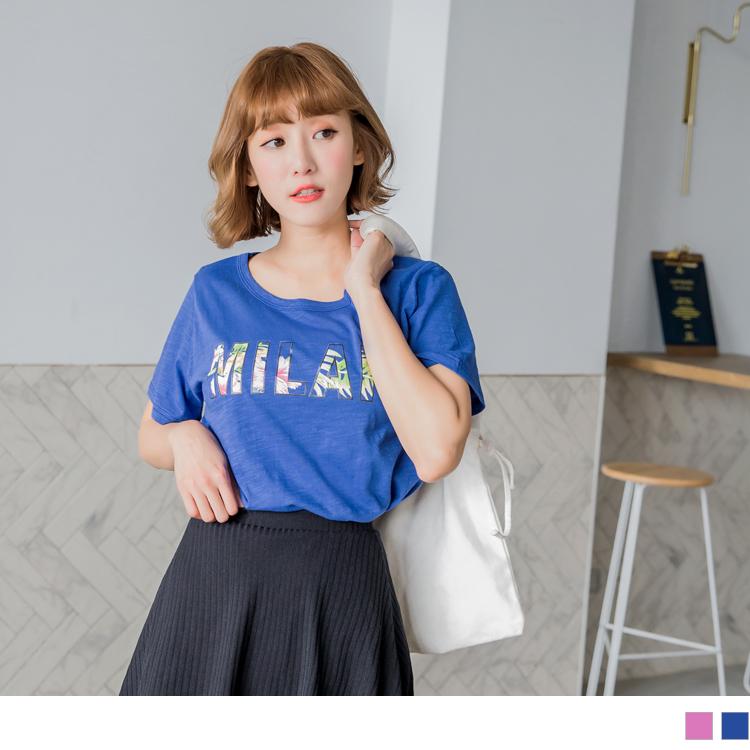 台湾制造.竹节棉花底单字印图T恤上衣