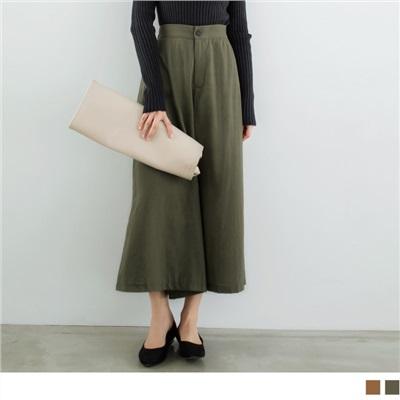 0925新品 素色背腰圍鬆緊寬版褲