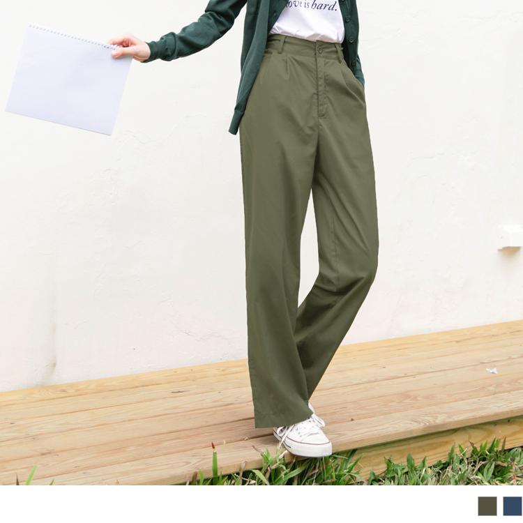 親子裝系列~高含棉素色打摺寬版褲