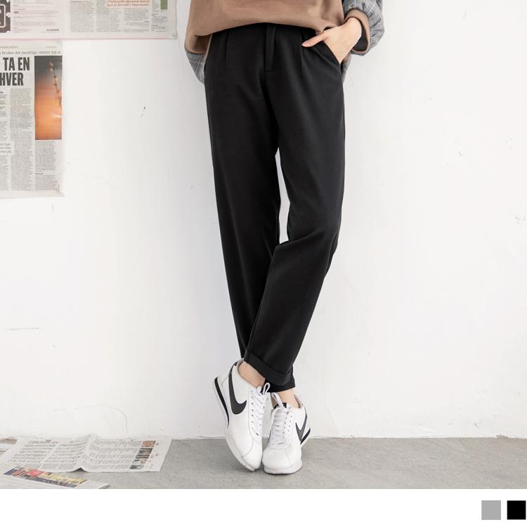 質感面知性品味素色直筒褲