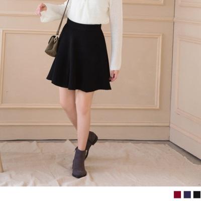 0928新品 豎羅紋打褶造型素面短裙