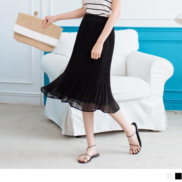 高質感豎壓紋飄逸打褶裙
