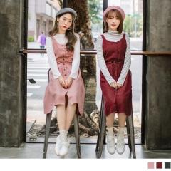 0925新品 無袖蝴蝶結素面洋裝/上衣