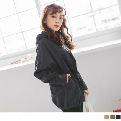 0921新品 素色高含棉連帽軍裝外套